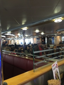 Look how big the common area is on the Ferry