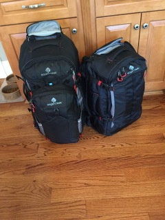 My life for the next 5 weeks packed in two bags...it's a miracle