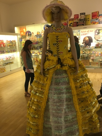 Dresses made out of packaging
