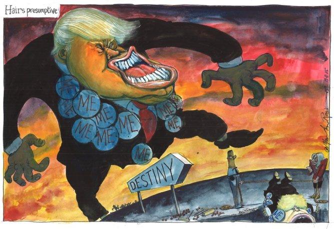 A trump cartoon by Martin.